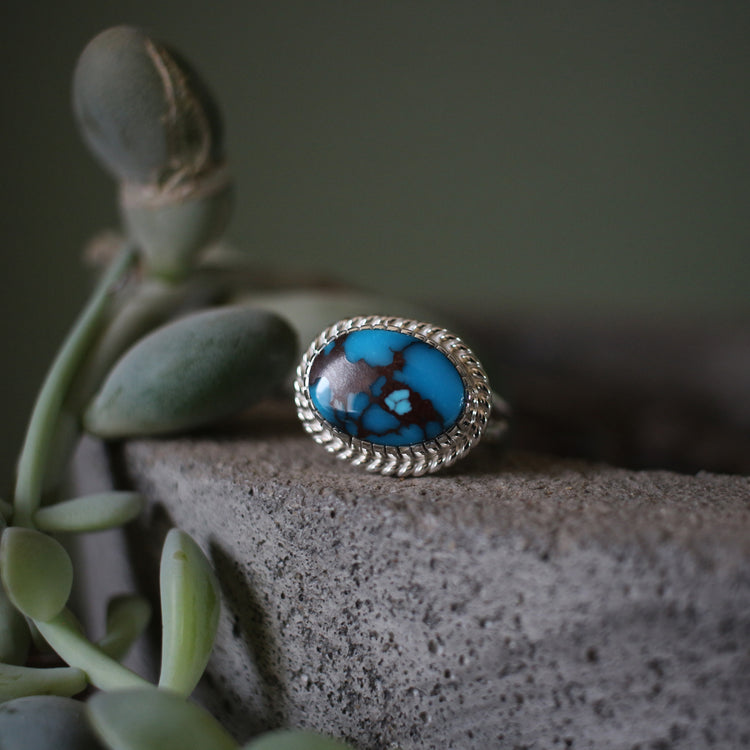 Horizontal Egyptian Turquoise Ring