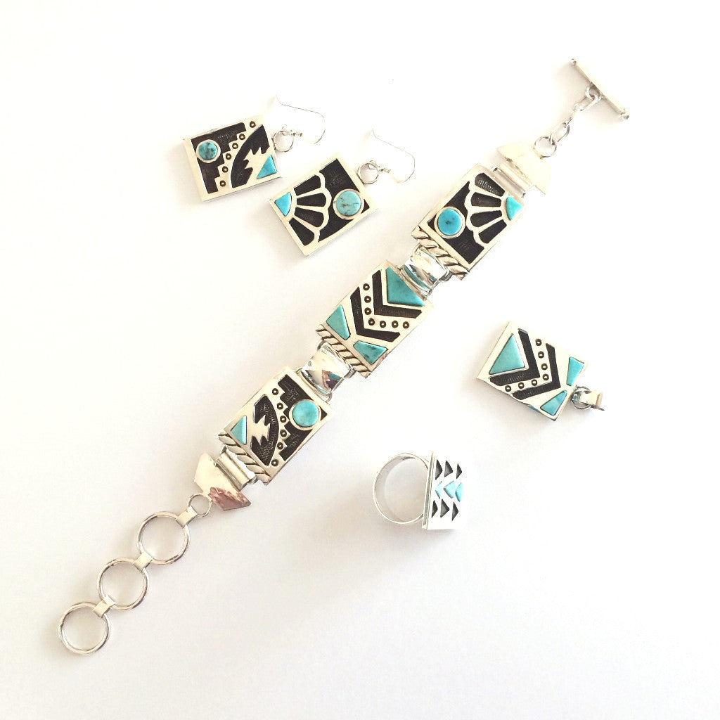 Southwest Textile-Inspired Jewelry set