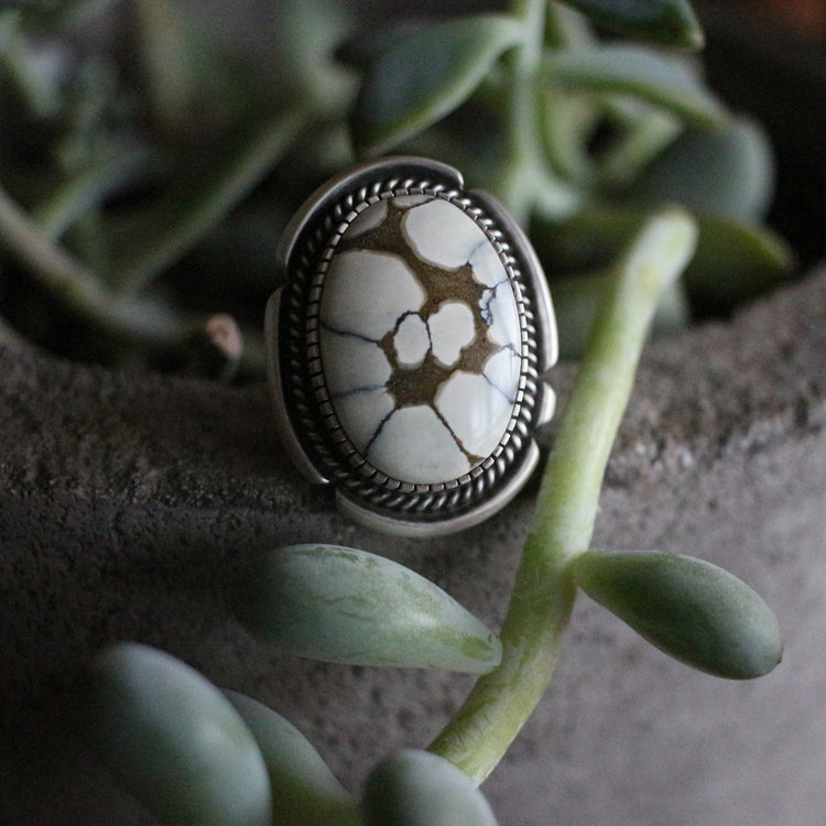 Floral Ivory Creek Ring/Pendant