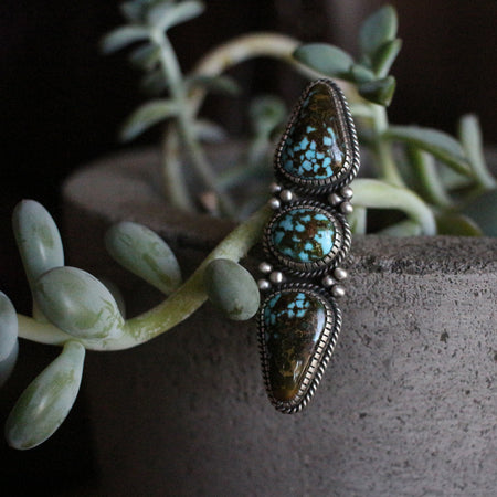 Kingman Turquoise Three Stone Statement Piece