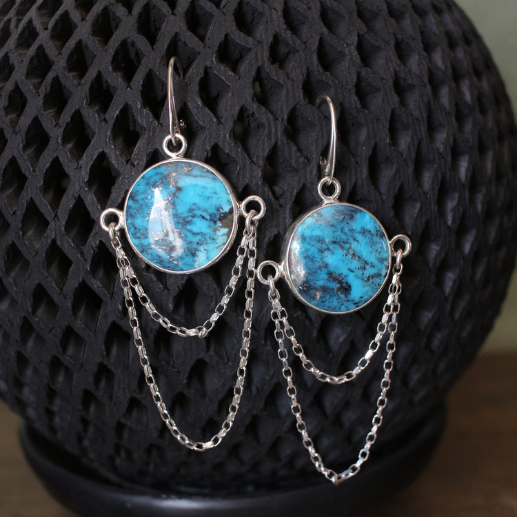 Round Kingman Chandelier Earrings