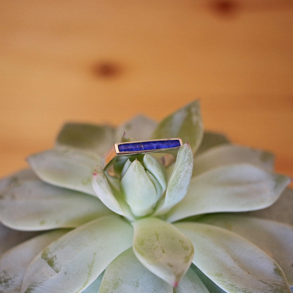 Lapis 'Ophelia' Inlay Ring