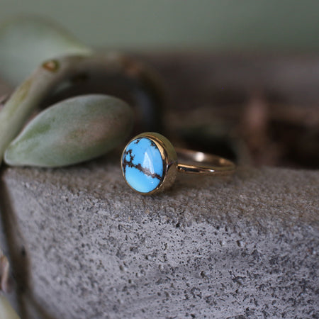 14k Gold Lavender Turquoise Ring