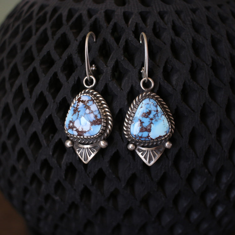 Triangular Lavender Earrings