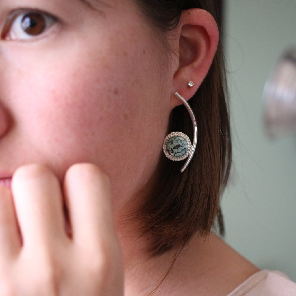 New Lander Fancy Stud Earrings
