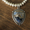 Pietersite Silver Pearl Necklace