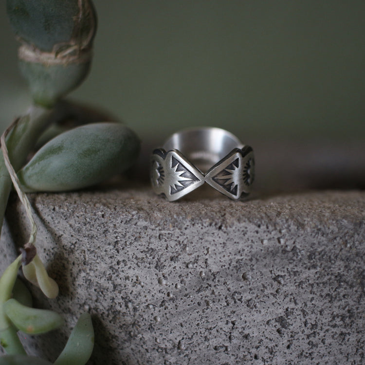 Stamped Sterling Silver Bowtie Ring