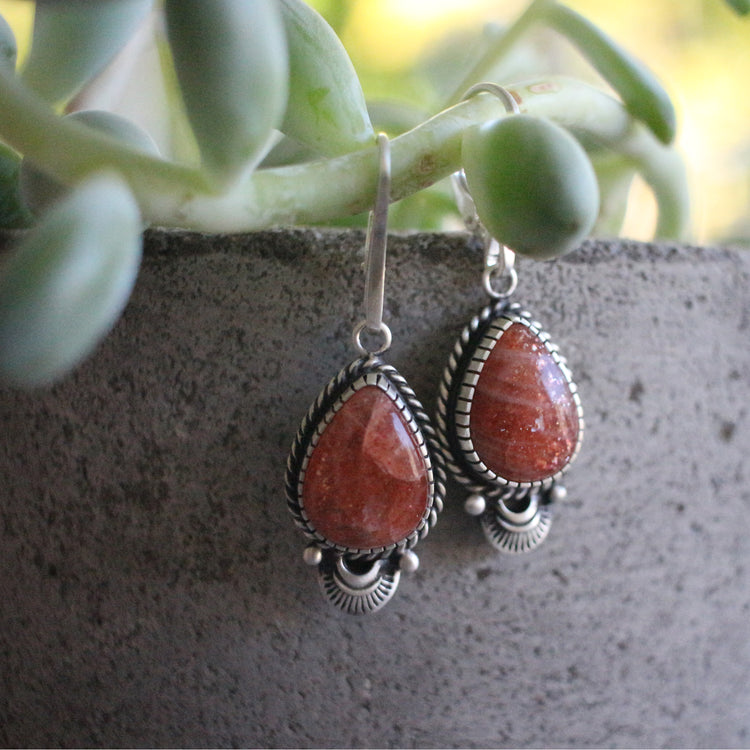 Suntstone Earrings