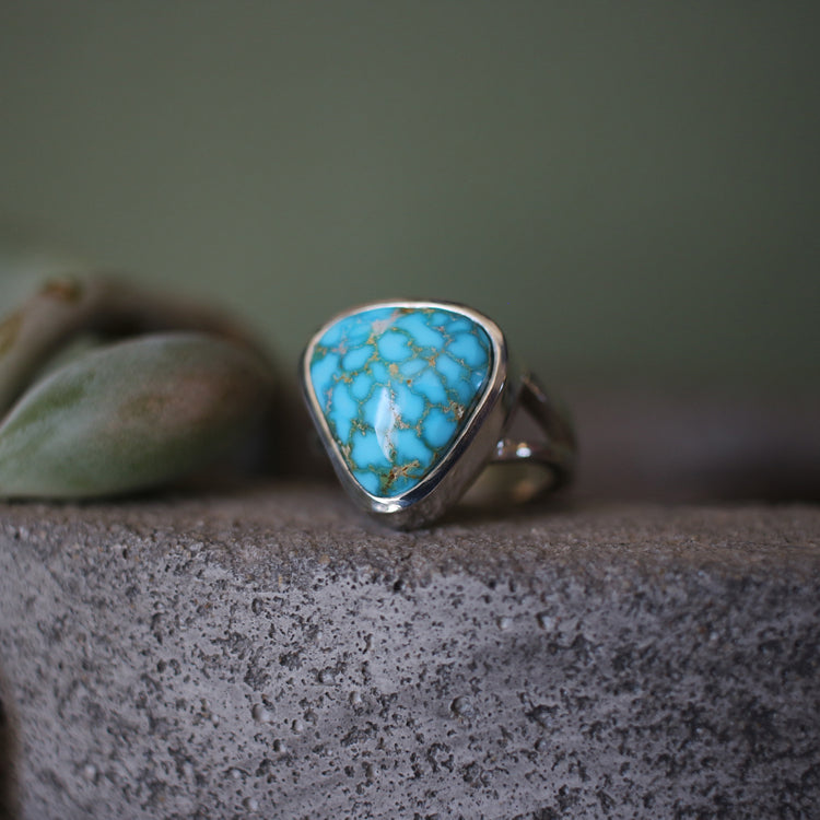 Turquoise Mountain Split Shank Ring
