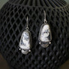 White Buffalo Dangle Earrings