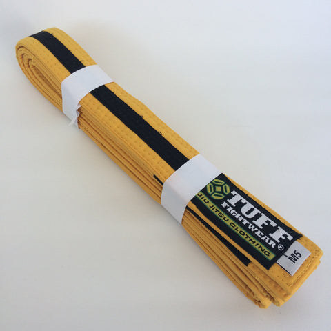 Kids BJJ Belts - YELLOW/BLACK