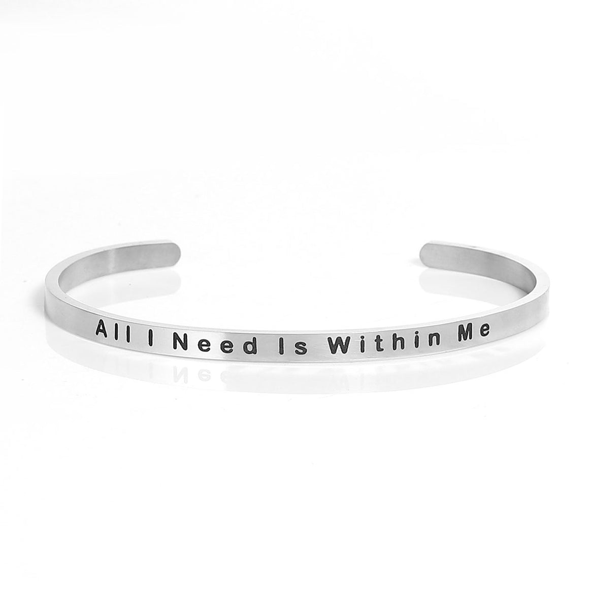 bracelets light black inspirational plated your let shape my girls message rectangle polished silver shine item leather stamped jewelry charm from bracelet in