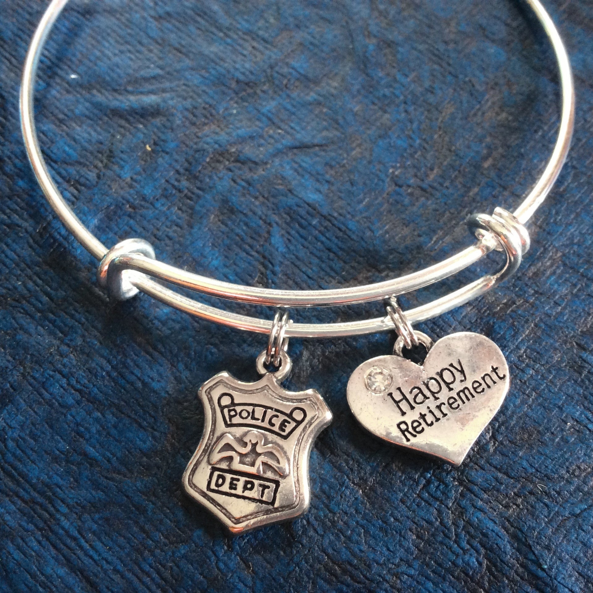 Happy Retirement Police Officer Bracelet Adjustable Expandable ...