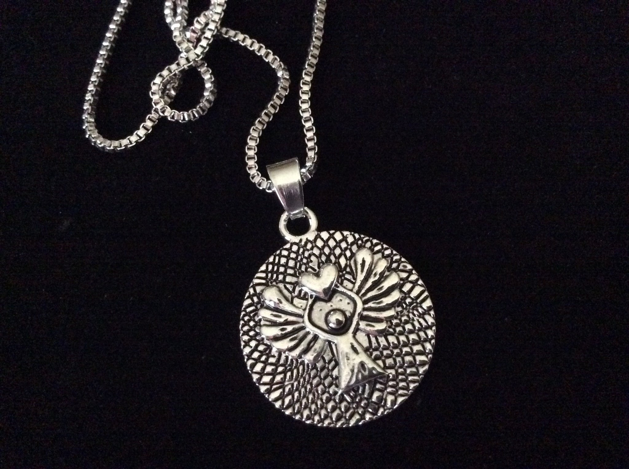 Sterling Silver Guardian Angel Pendant 18 Chain Made In USA Jewels Obsession Guardian Angel Pendant