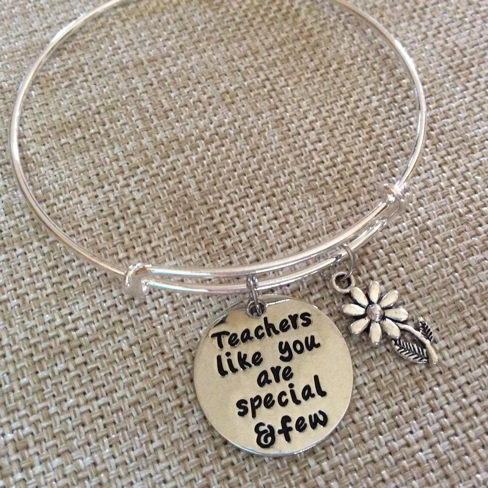 Teachers like you are Special and Few Expandable Silver Charm