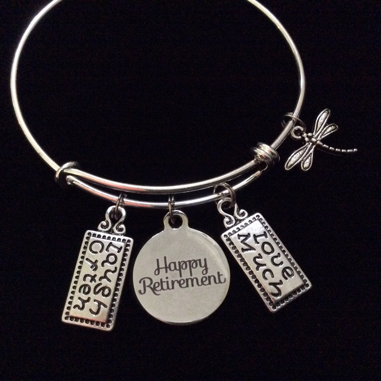 How Much Are Charm Bracelets: Happy Retirement Laugh Often Love Much Expandable Silver