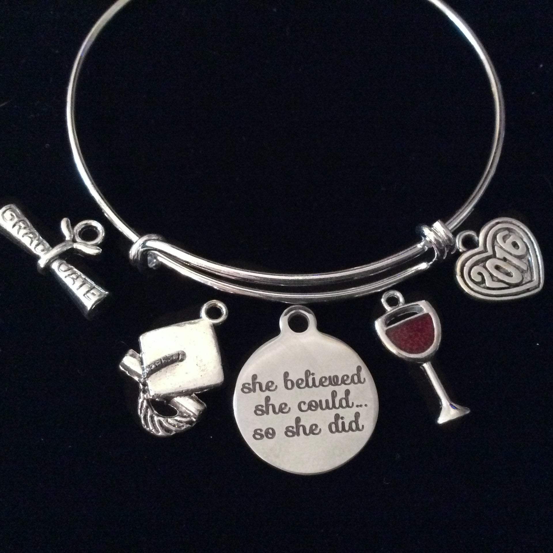 dreams message graduation gift student bracelet cuff stude chase your products metal motivation inspirational