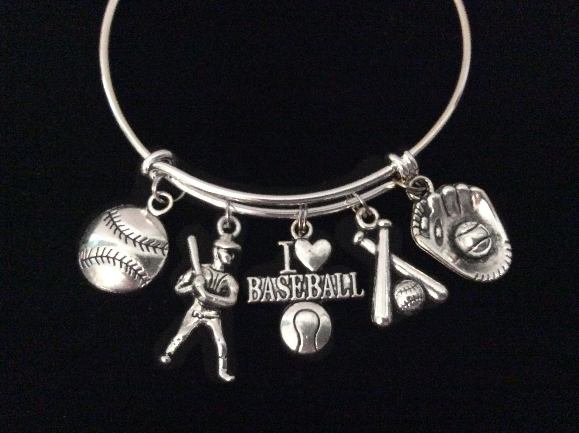 handmade infinity bracelet dp jewelry baseball amazon sports com love cubs team charm