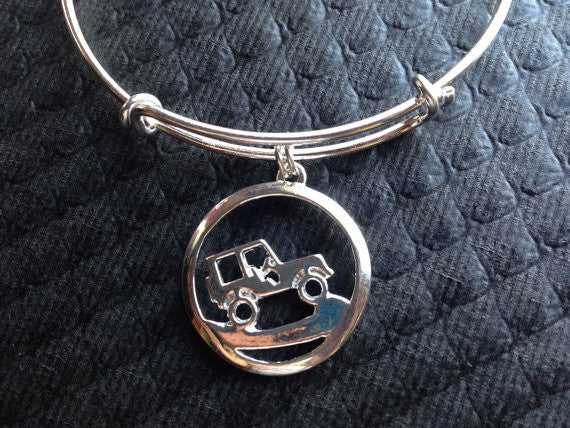 Its a Jeep Thing Adjustable Expandable Silver Bangle Bracelet