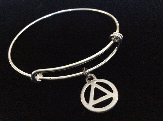 AA Recovery Serenity Symbol Charm Expandable Charm Bracelet