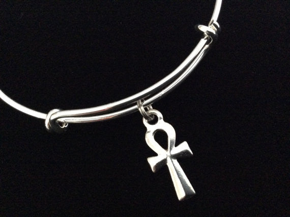 Ankh Charm Expandable Charm Bracelet Adjustable Bangle Gift Key of Life Meaningful