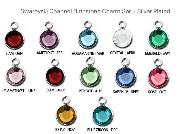 Add a Birthstone Charm Listing for Jules Obsession Expandable Bracelets