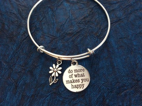 inspirational expandable adjustable silver wire bracelet bangle meaningful