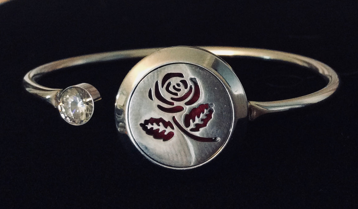 Aromatherapy Jewelry Rose Essential Oil locket Diffuser Bracelet Stainless Steel Locket Flexible