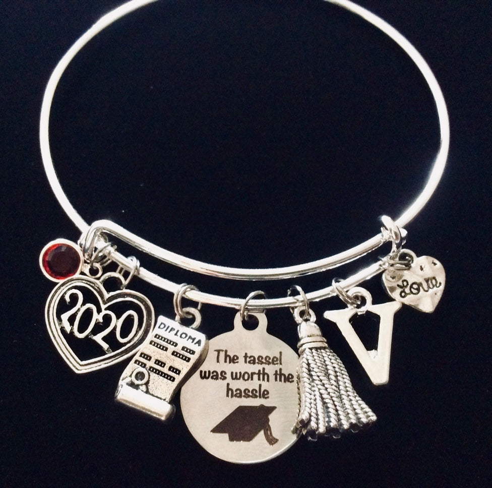 2021 Graduation Gift for Her Expandable Charm Bracelet Diploma The Tassel Was Worth the Hassle Adjustable One Size Fits All Gift