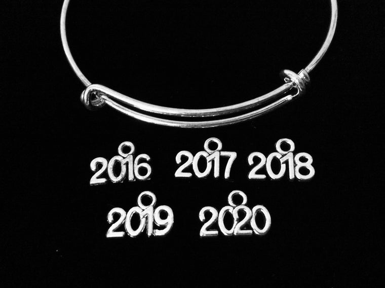 Add A Year Charm to an Adjustable Bracelet in shop Jules Obsession 2016 2017 2018 2019 2020