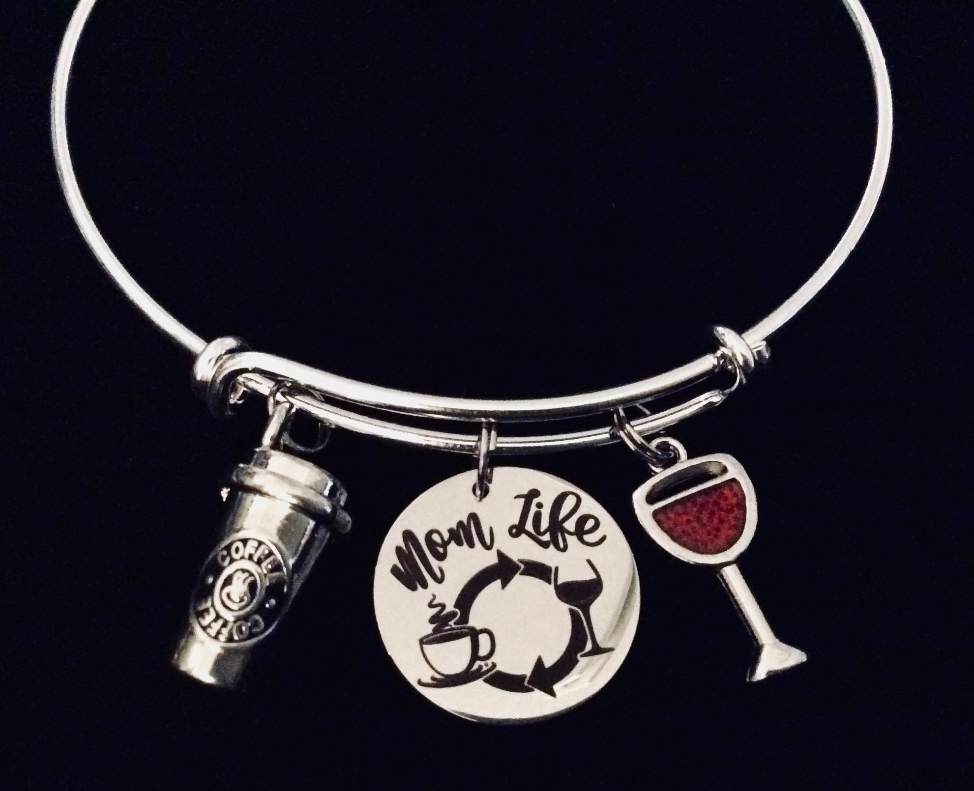 Mother Silver Charm Bracelet. Jewelry & Watches