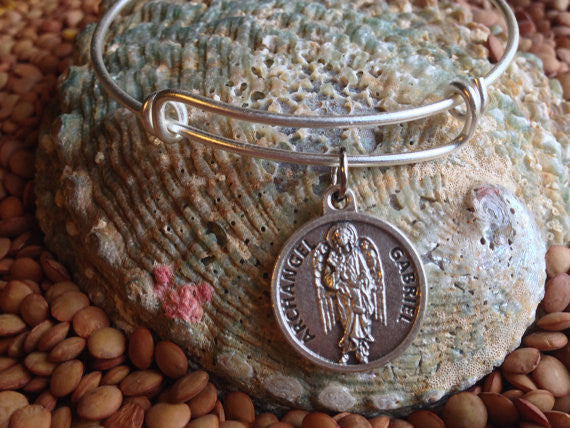 archangel gabriel charm on Expandable Bangle