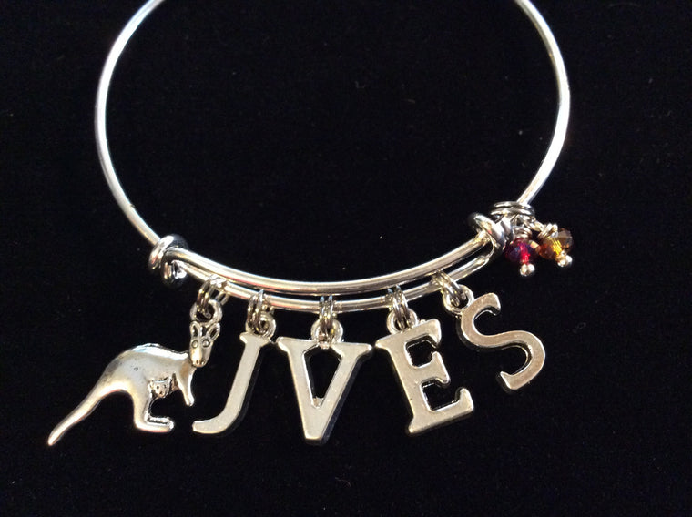 JVES Custom Silver Expandable Bangle Bracelet Gift Adjustable Wire Charm Bangle