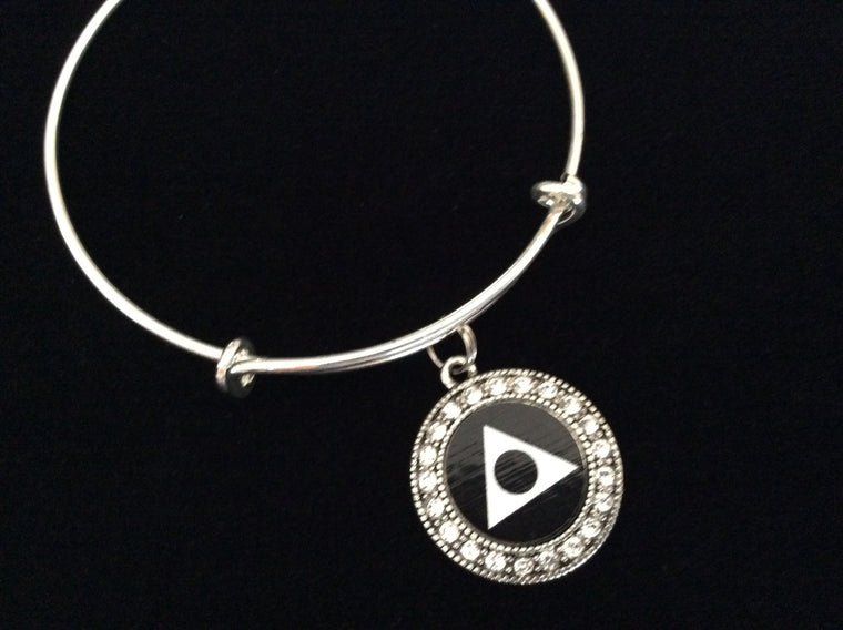 Al Anon Symbol Charm Expandable Charm Bracelet Adjustable Wire Bangle Inspirational Meaningful