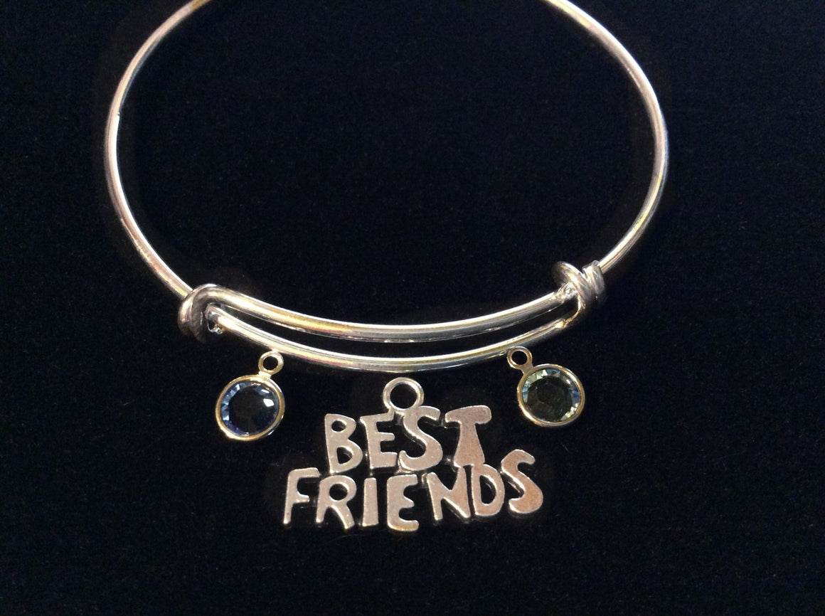 Custom Best Friend Expandable Charm Bracelet Adjustable Bangle Trendy Gift Charm Bracelet