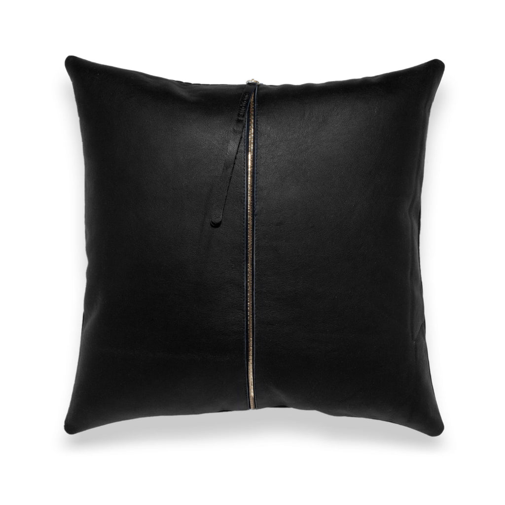 Chimera Black Leather Pillow - Duotone