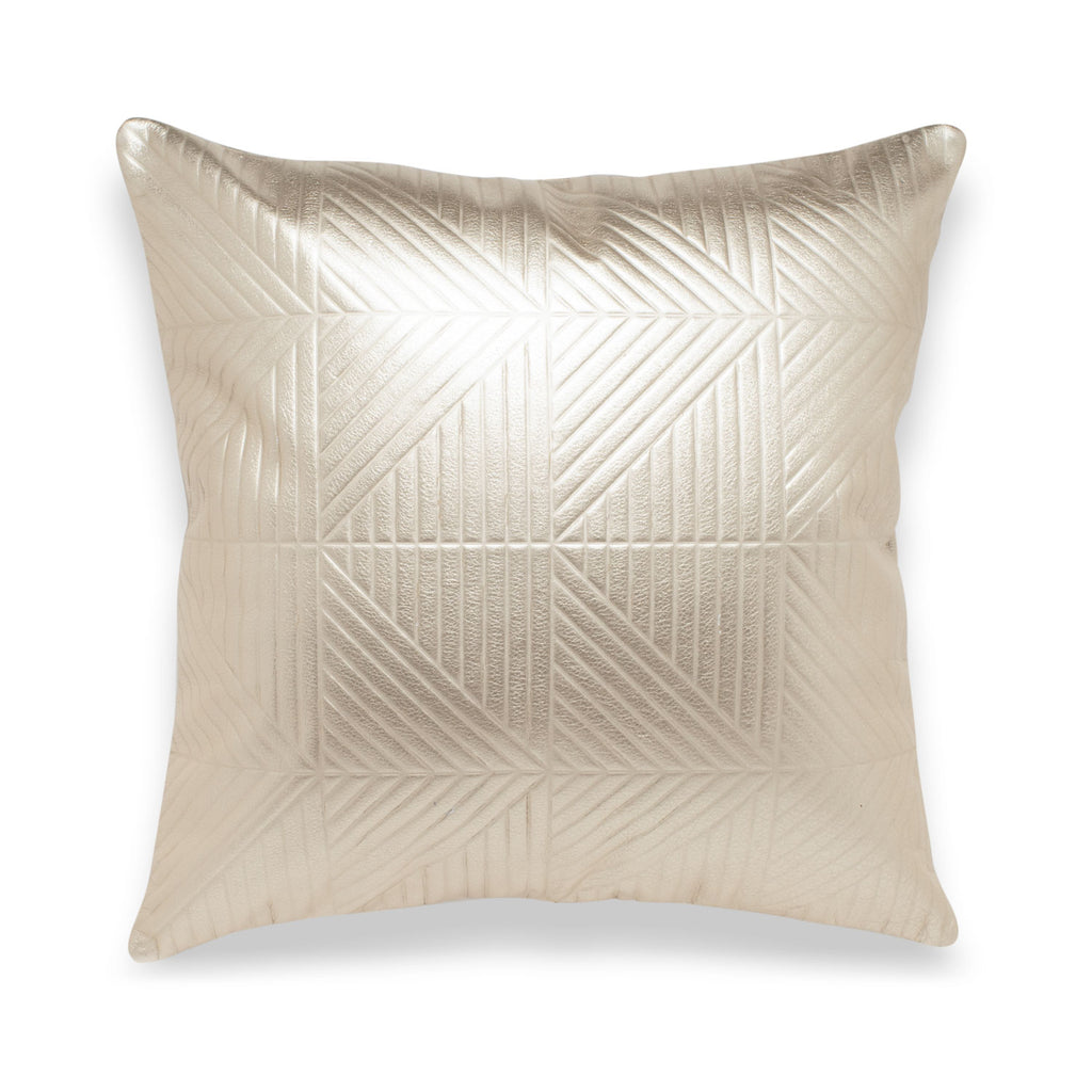 Chimera Pale Gold Leather Pillow - Duotone
