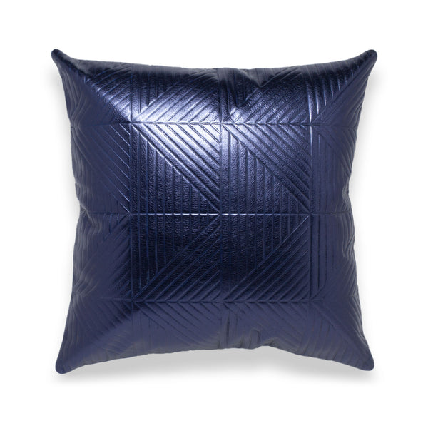 Chimera Sapphire Leather Pillow - Duotone