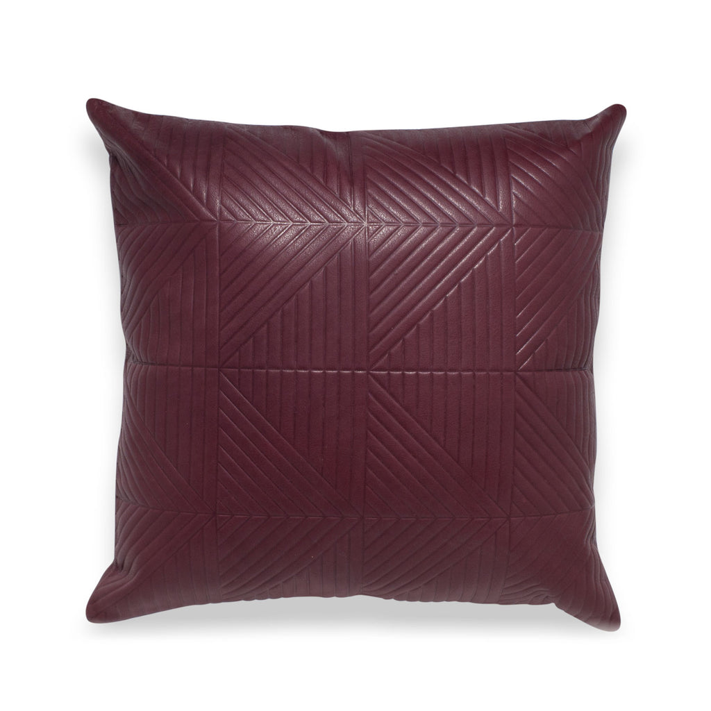 Chimera Bordeaux Leather Pillow - Duotone