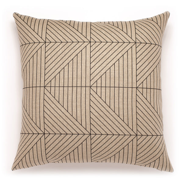 Hand-printed Belgian Linen Pillow