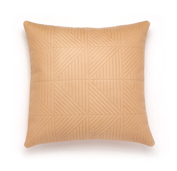 Chimera Tan Leather Pillow - Duotone