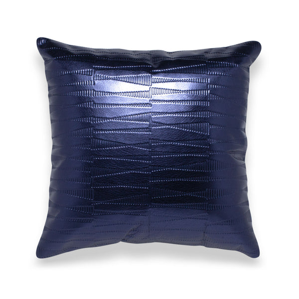 Sine Sapphire Leather Pillow - Duotone