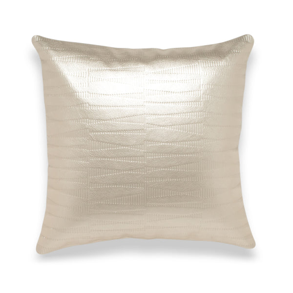 Sine Pale Gold Leather Pillow - Duotone