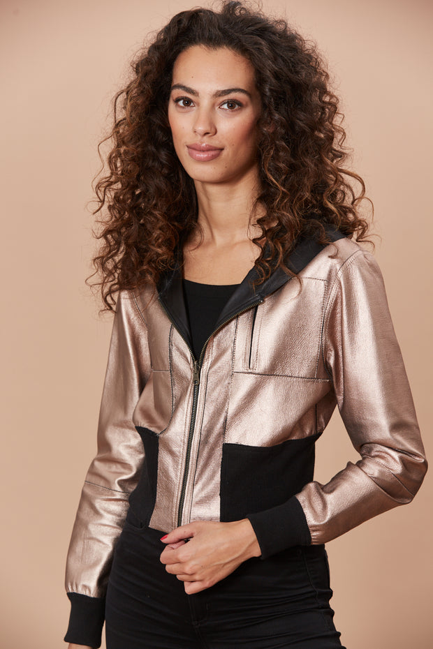 Sadie Metallic Leather