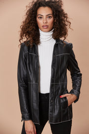 Heide Blazer Washed Leather