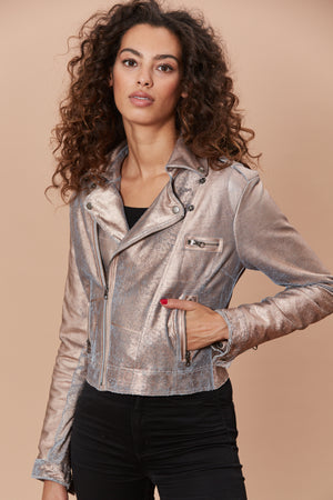 Josey Metallic Leather