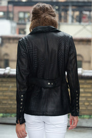 Meryl Perforated - Washed Leather