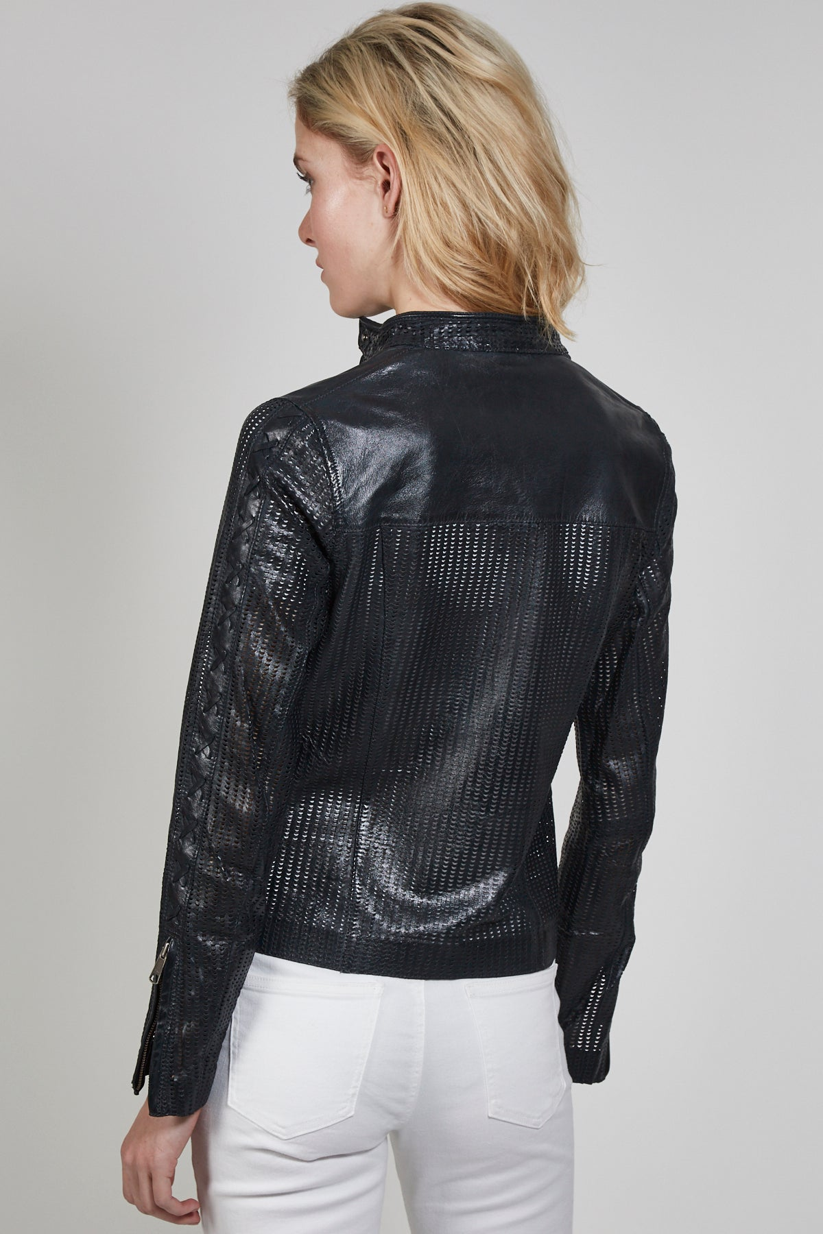 Vanessa Perforated Vintage Leather