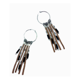 Helecho Leather-Silver Earrings