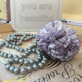 Pearl Grey Carnation Necklace